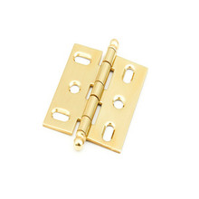Schaub 1111B-03 Ball Tip Mortise Hinge - Polished Brass