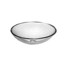 "Opella 20414 Clear Glass Vessel Sink - 16"" x 6"""