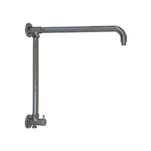 "Opella Vertical Riser with 17"" Shower Arm and Built-in Diverter for Hand Shower - Chrome"