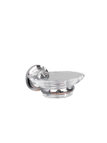 Valsan  M8004NI Oslo Polished Nickel Glass Soap Dish Holder