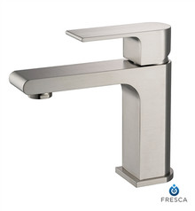 Fresca Allaro Single Hole Bathroom Vanity Faucet - Brushed Nickel