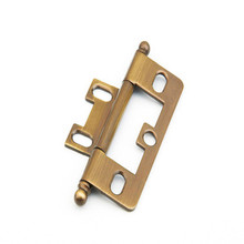 Schaub 1100B-AB Ball Tip Non-Mortise Hinge - Antique Brass