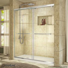 DreamLine  SHDR-1360760-01 Charisma Sliding Shower Door 56 - 60 in. W x 76 in. H Clear Glass Shower Door in Chrome Finish