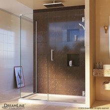 DreamLine  SHEN-24495340-01 Unidoor Plus 49-1/2 in. W x 34-3/8 in. D x 72 in. H Hinged Shower Enclosure, Chrome Finish Hardware