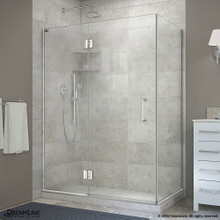 DreamLine  E32334L-01 Unidoor-X 47-3/8 in. W x 34 in. D x 72 in. H Hinged Shower Enclosure in Chrome Finish; Left-wall Bracket
