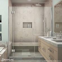 DreamLine  D12906572-01 Unidoor-X 41 1/2 - 42 in. W x 72 in. H Hinged Shower Door in Chrome Finish
