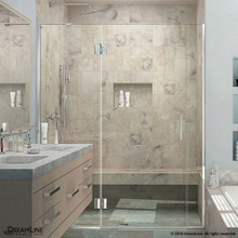 DreamLine  D3301472L-01 Unidoor-X 68 - 68 1/2 in. W x 72 in. H Hinged Shower Door in Chrome Finish; Left-wall Bracket