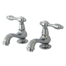 Kingston Brass Two Handle with Two Spouts Basin Lavatory Faucet - Polished Chrome