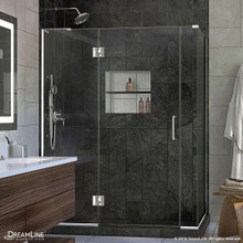 DreamLine  E32906530L-01 Unidoor-X 59.5 in. W x 30.375 in. D x 72 in. H Hinged Shower Enclosure in Chrome Finish; Left-wall Bracket