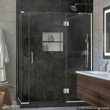 DreamLine  E3300634R-01 Unidoor-X 60 in. W x 34.375 in. D x 72 in. H Hinged Shower Enclosure in Chrome Finish; Right-wall Bracket
