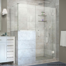 DreamLine  E127243436-01 Unidoor-X 57 in. W x 36.375 in. D x 72 in. H Hinged Shower Enclosure in Chrome Finish