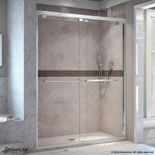 DreamLine  SHDR-1660760-01 Encore 56 - 60 in. W x 76 in. H Bypass Sliding Shower Door in Chrome Finish