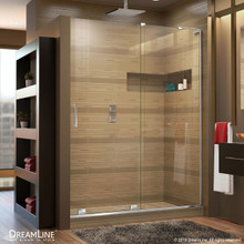 DreamLine  SHDR-1948723R-01 Mirage-X 44 - 48 in. W x 72 in. H Sliding Shower Door in Chrome Finish; Right-wall Bracket