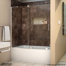 DreamLine  SHDR-1960580L-01 Mirage-X 56 - 60 in. W x 58 in. H Sliding Tub Door in Chrome Finish; Left-wall Bracket