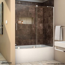 DreamLine  SHDR-1960580R-01 Mirage-X 56 - 60 in. W x 58 in. H Sliding Tub Door in Chrome Finish; Right-wall Bracket