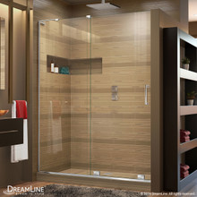 DreamLine  SHDR-1960723L-01 Mirage-X 56 - 60 in. W x 72 in. H Sliding Shower Door in Chrome Finish; Left-wall Bracket