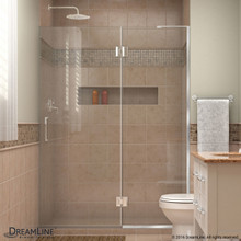 DreamLine  D32872R-01 Unidoor-X 52 in. W x 72 in. H Hinged Shower Door in Chrome Finish; Right-wall Bracket