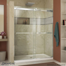 DreamLine  SHDR-6360760-01 Essence 56 to 60 in. Frameless Bypass Shower Door in Chrome Finish