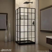 DreamLine  DL-6789-09 French Corner Shower Enclosure and Shower Base Kit 36 in. W x 36 in. D x 74.75 in. H