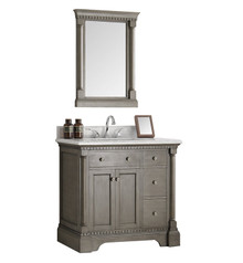 "Fresca  FVN2236SA Kingston 36"" Antique Silver Traditional Bathroom Vanity w/ Mirror"