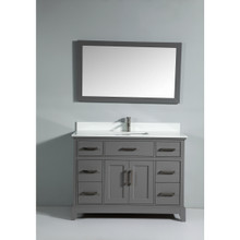 Vanity Art VA1048G 48-Inch Single-Sink Bathroom Vanity Set With Phoenix Stone Vanity Top - Grey