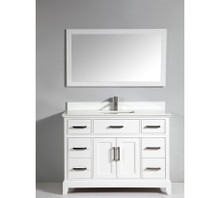 Vanity Art VA1048W 48-Inch Single-Sink Bathroom Vanity Set With Phoenix Stone Vanity Top - White