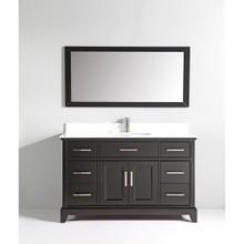 Vanity Art VA1060E 60-Inch Single-Sink Bathroom Vanity Set With Phoenix Stone Vanity Top - Espresso