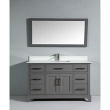 Vanity Art VA1060G 60-Inch Single-Sink Bathroom Vanity Set With Phoenix Stone Vanity Top - Grey