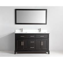 Vanity Art VA1060DE 60-Inch Double-Sink Bathroom Vanity Set With Phoenix Stone Vanity Top - Espresso