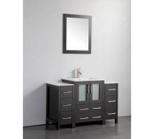 Vanity Art VA3024-48E 48 Inch Vanity Cabinet with Ceramic Sink & Mirror - Espresso
