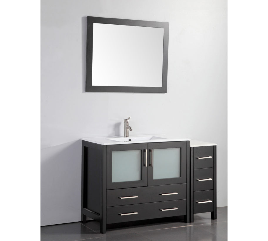 Vanity Art VA3036 48E 48 Inch Vanity Cabinet With Ceramic Sink U0026 Mirror    Espresso