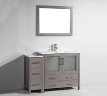 Vanity Art VA3036-48G 48-Inch Single-Sink Bathroom Vanity Set With Ceramic Vanity Top - Grey