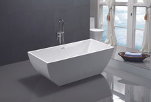 "Vanity Art VA6821 59"" Bathroom Freestanding Acrylic Soaking Bathtub - White"