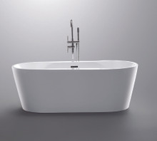 "Vanity Art VA6804 67"" Bathroom Freestanding Acrylic Soaking Bathtub - White"