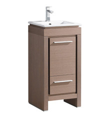 "FCB8118GO-I Fresca Allier 16"" Gray Oak Modern Bathroom Cabinet w/ Sink"