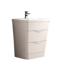"FCB8525WH-I Fresca Milano 26"" Glossy White Modern Bathroom Cabinet w/ Integrated Sink"