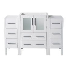 "Fresca  FCB62-122412WH Fresca Torino 48"" White Modern Bathroom Cabinets"