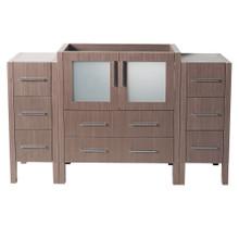 "Fresca  FCB62-123012GO Fresca Torino 54"" Gray Oak Modern Bathroom Cabinets"