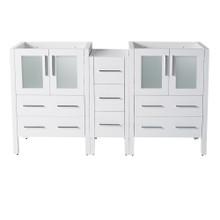 "Fresca  FCB62-241224WH Fresca Torino 60"" White Modern Bathroom Cabinets"