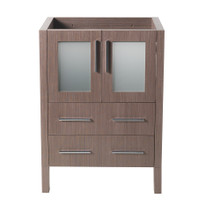 "Fresca  FCB6224GO Fresca Torino 24"" Gray Oak Modern Bathroom Cabinet"