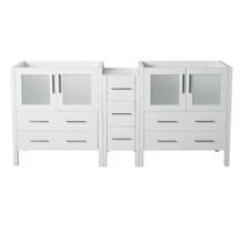 "Fresca  FCB62-301230WH Fresca Torino 72"" White Modern Bathroom Cabinets"
