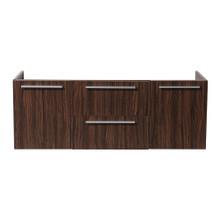 "Fresca  FCB8013GW Fresca Opulento Walnut 54"" Wall Hung Modern Double Sink Cabinet"