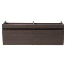 "Fresca  FCB8040GO Fresca Largo Gray Oak 57"" Wall Hung Modern Double Sink Bathroom Cabinet"