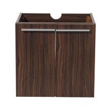 """Fresca  FCB8058GW Fresca Alto Walnut 23"""" Wall Hung Modern Bathroom Cabinet"""