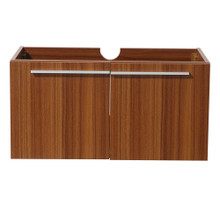 """Fresca  FCB8090TK Fresca Vista Teak 36"""" Wall Mount Modern Bathroom Cabinet"""
