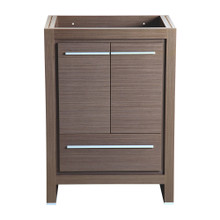 "Fresca  FCB8125GO Fresca Allier 24"" Gray Oak Modern Bathroom Cabinet"