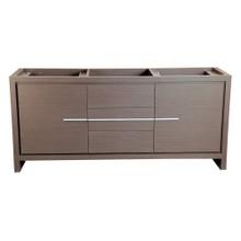 """Fresca  FCB8172GO Fresca Allier 72"""" Gray Oak Modern Double Sink Bathroom Cabinet"""