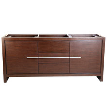 "Fresca  FCB8172WG Fresca Allier 72"" Wenge Brown Modern Double Sink Bathroom Cabinet"