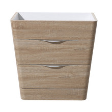 "Fresca  FCB8532WK Fresca Milano 32"" White Oak Modern Bathroom Cabinet"