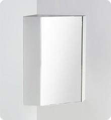 "FMC5084WH Fresca Coda 18"" White Corner Medicine Cabinet w/ Mirror Door"